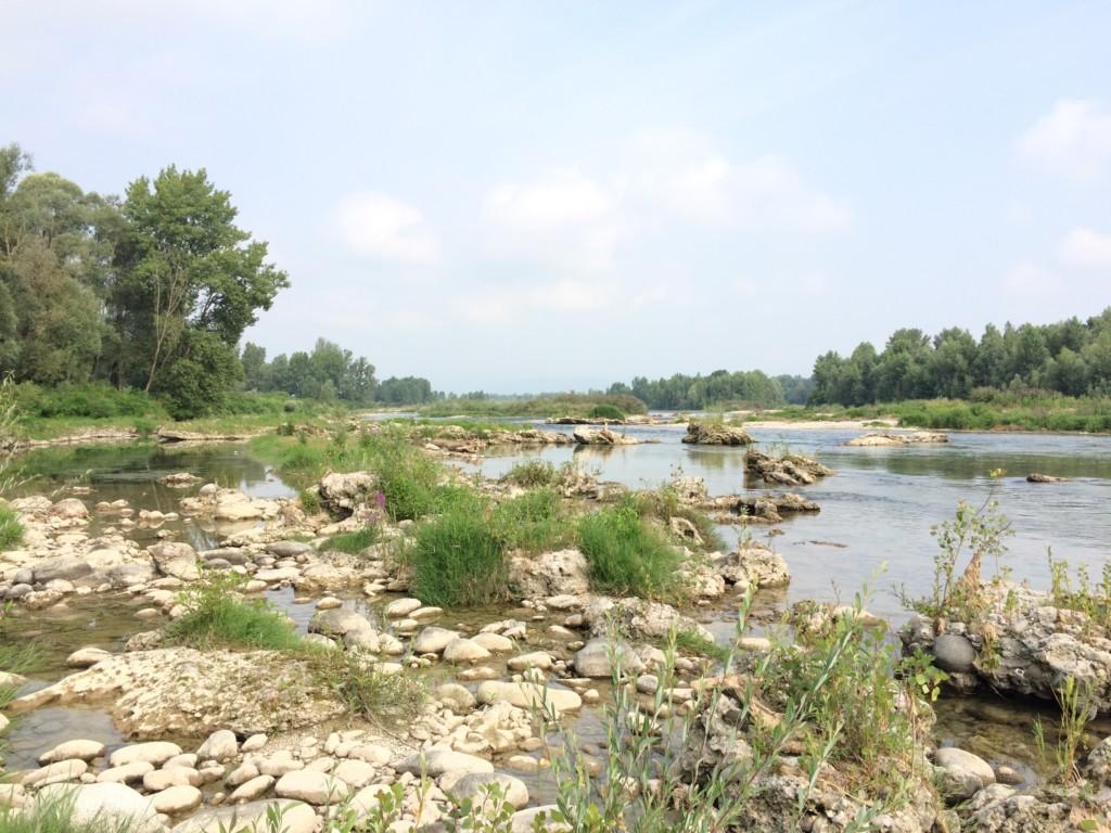川でキャンプ