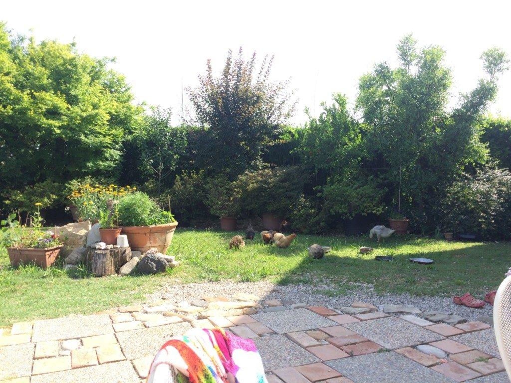 イタリアの家の庭