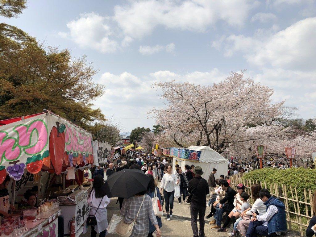 円山公園の出店