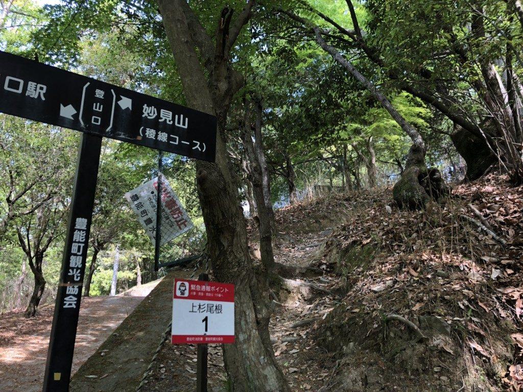 上杉尾根コース取り付きスタート
