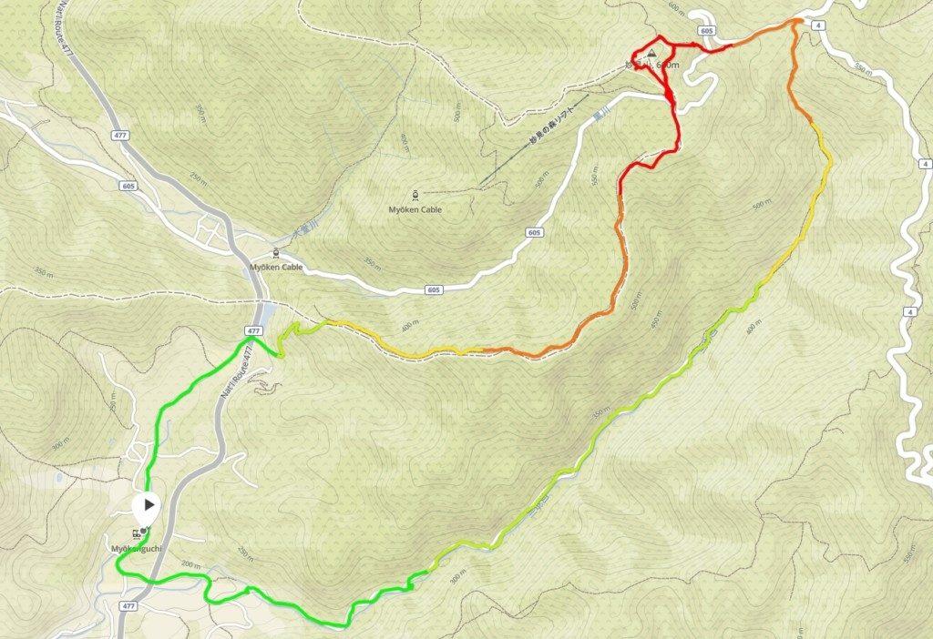 妙見山GPSマップ