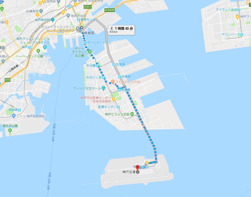 神戸空港マップ