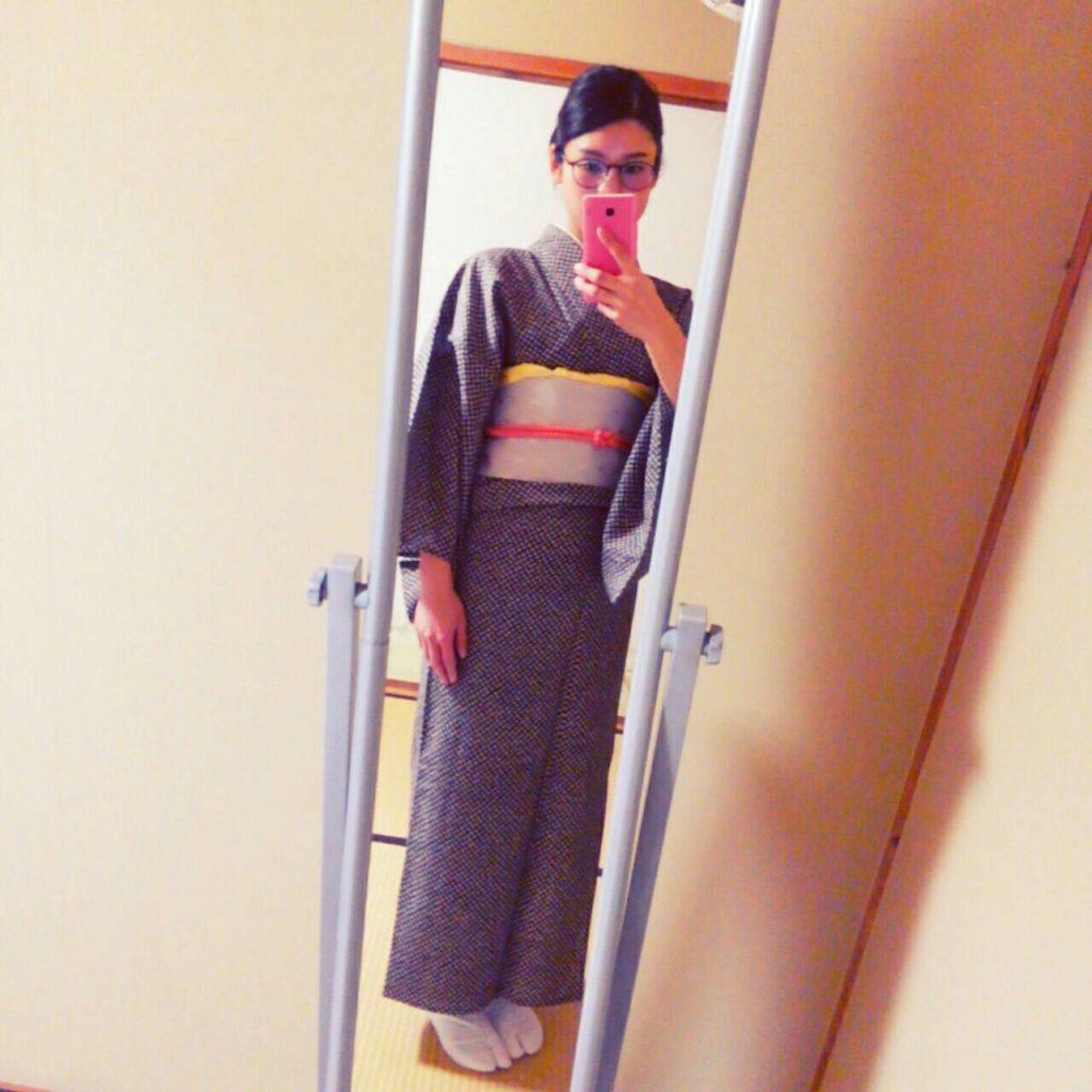 午後からの制服(着物)
