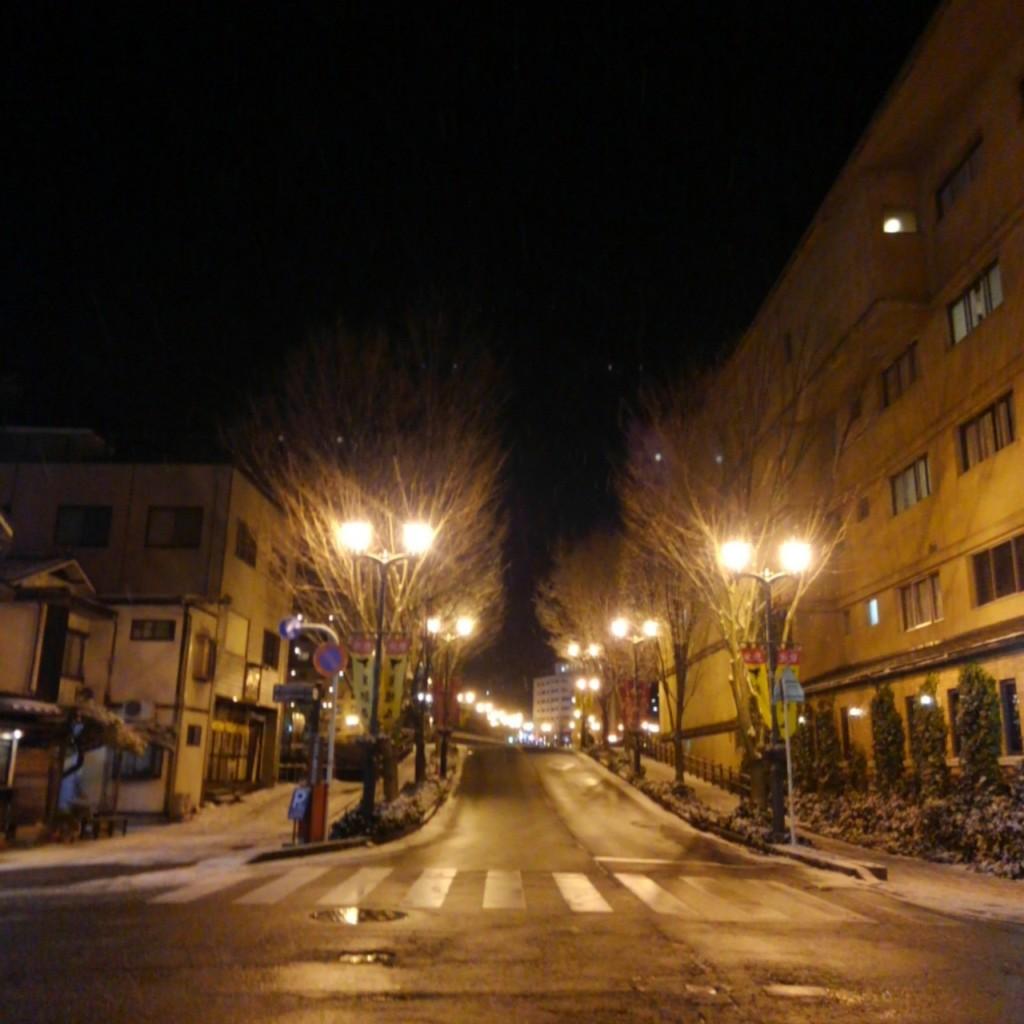 夜の下呂温泉街