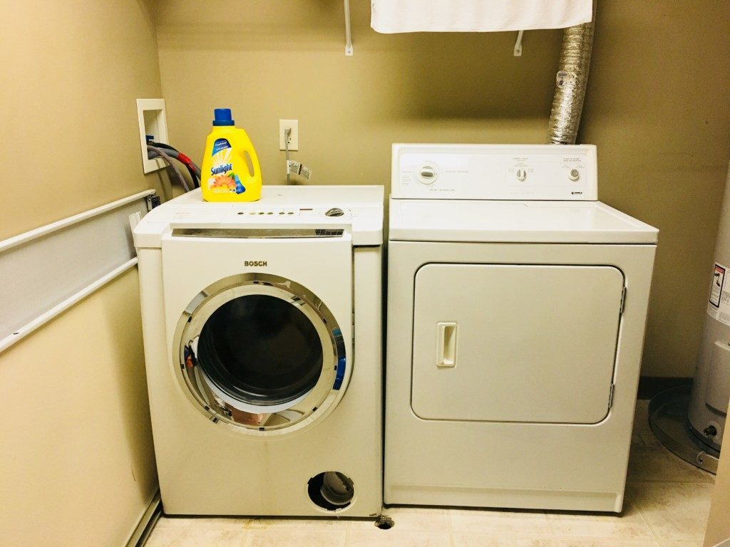 バンフ_アコモデーションの洗濯と乾燥機