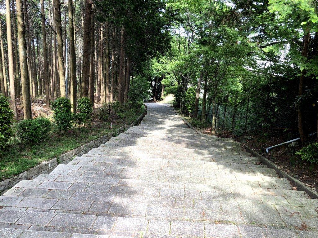 日吉大社に続く階段