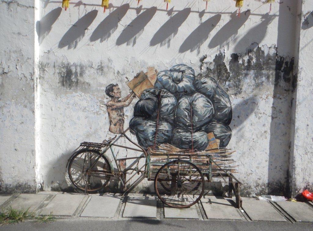 ゴミ収集壁画