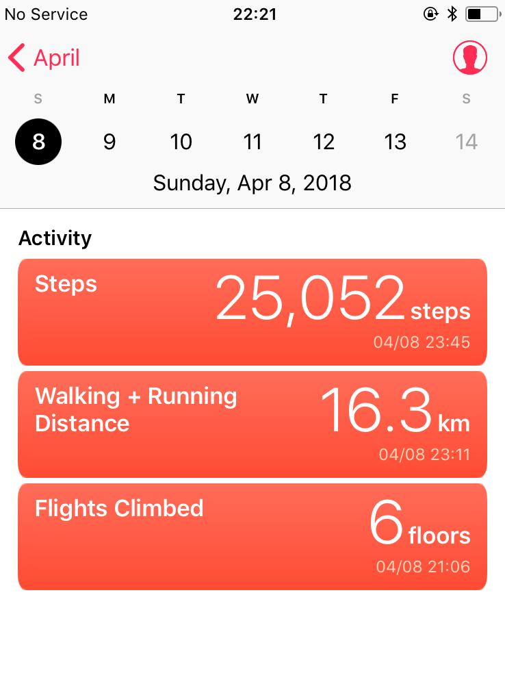 ヘルスケア台湾での歩数
