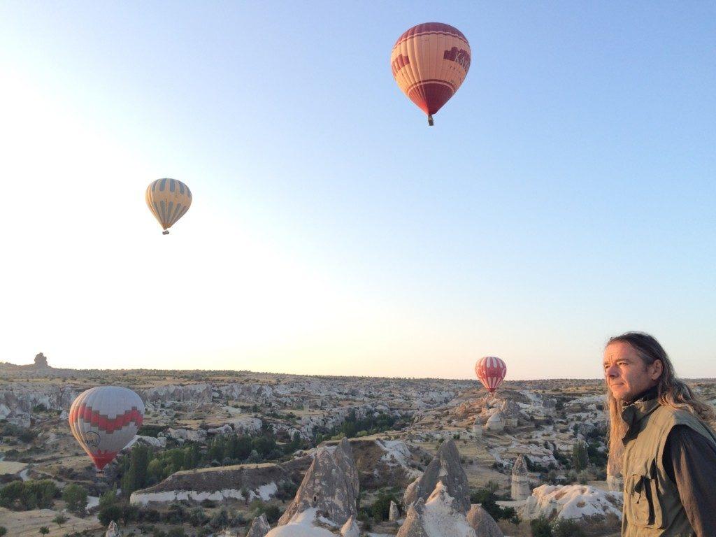 陽光と気球