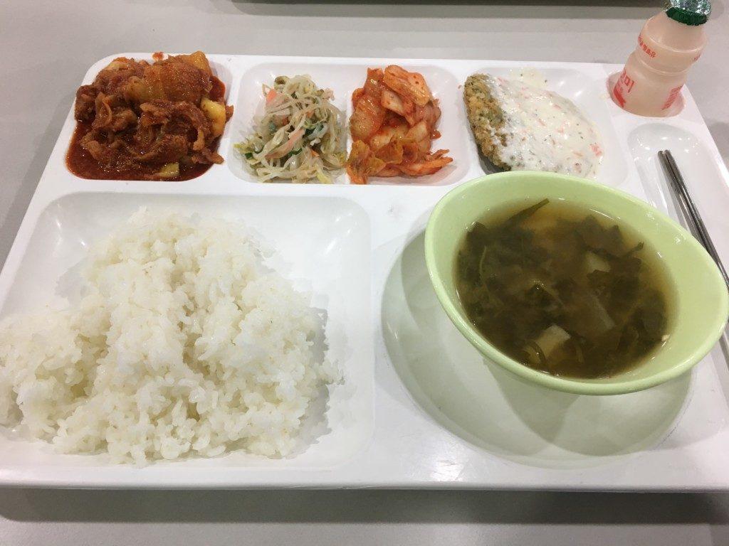 平昌オリンピックボランティア食事