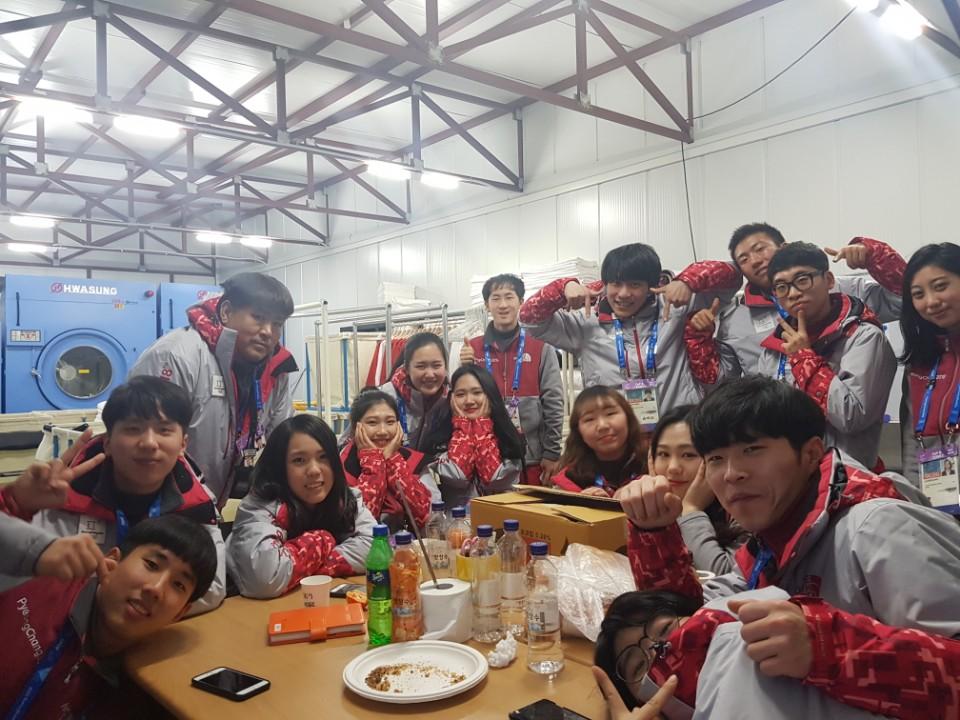 平昌オリンピックのボランティア友人