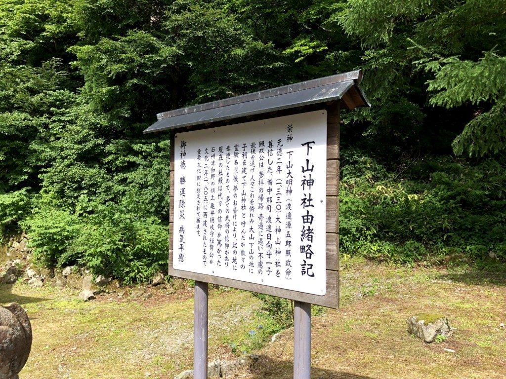 下山神社由緒