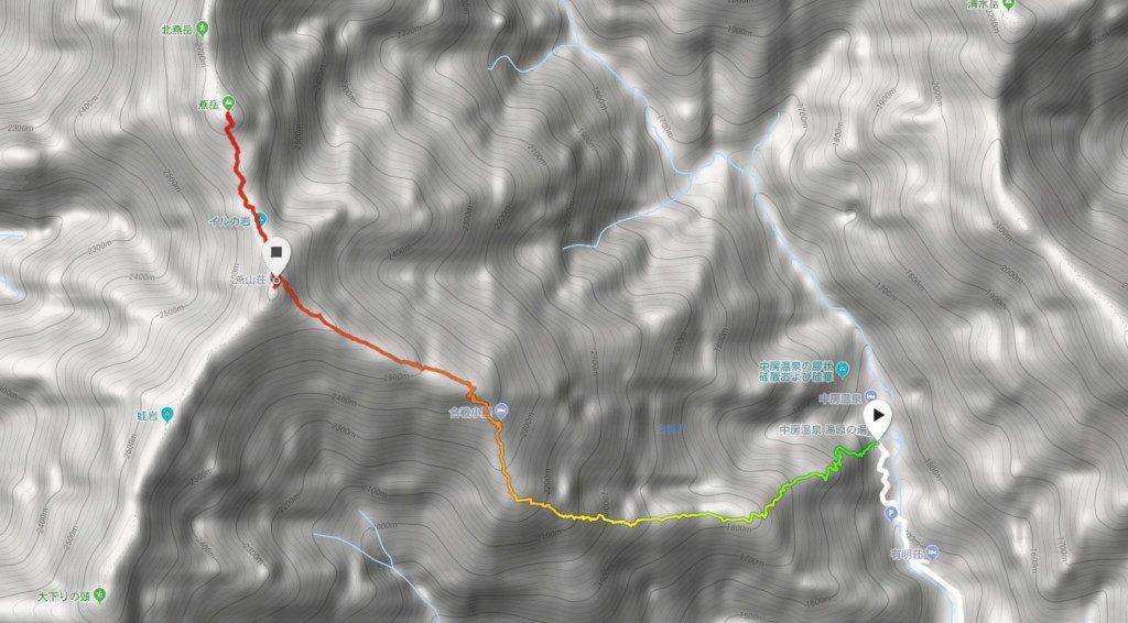 燕岳GPSマップ