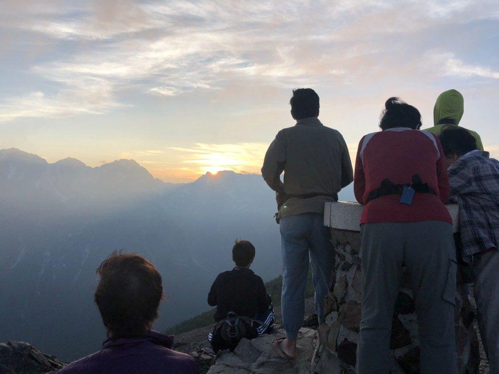 蝶ヶ岳の夕陽その3