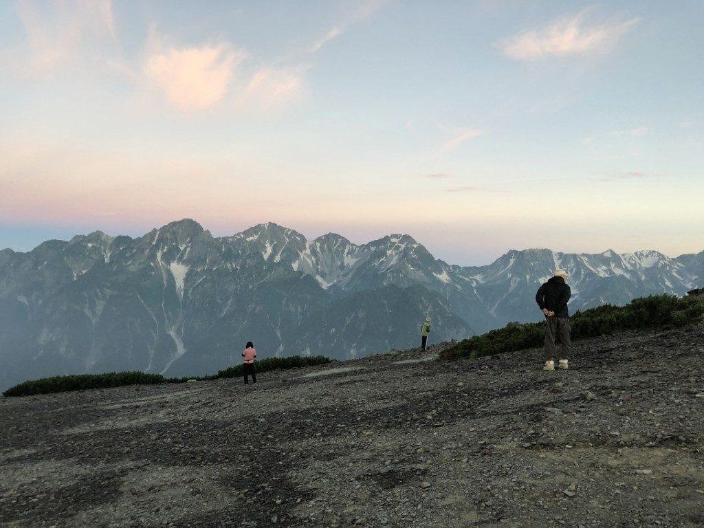 蝶ヶ岳の朝日その4