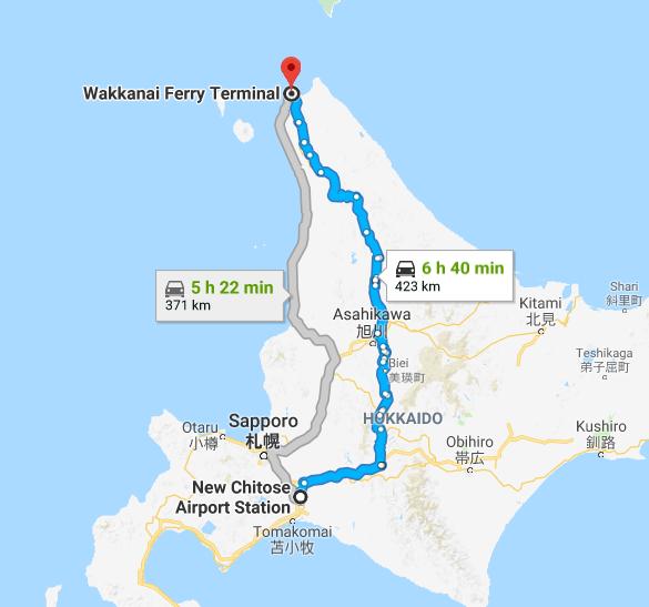 ヒッチハイクマップ 北海道