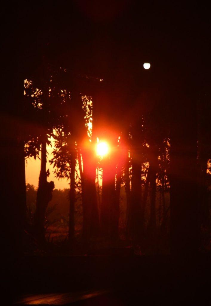 寄り道と夕日