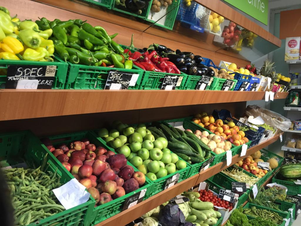 アルバニアのスーパー