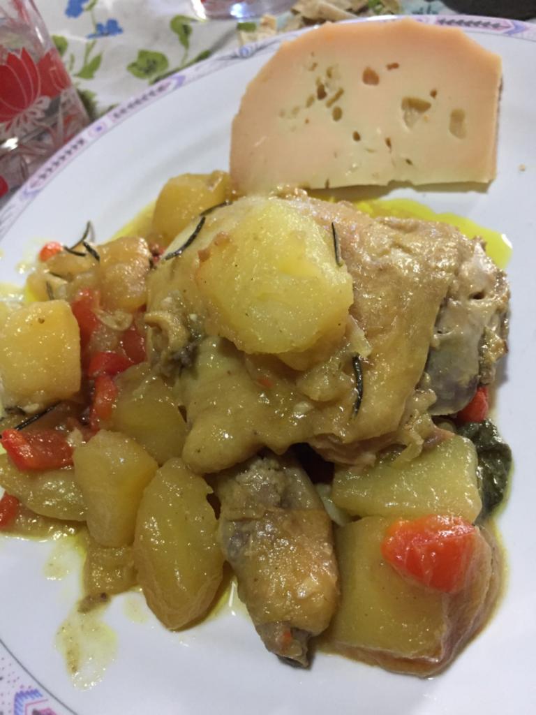 イタリアの夕食