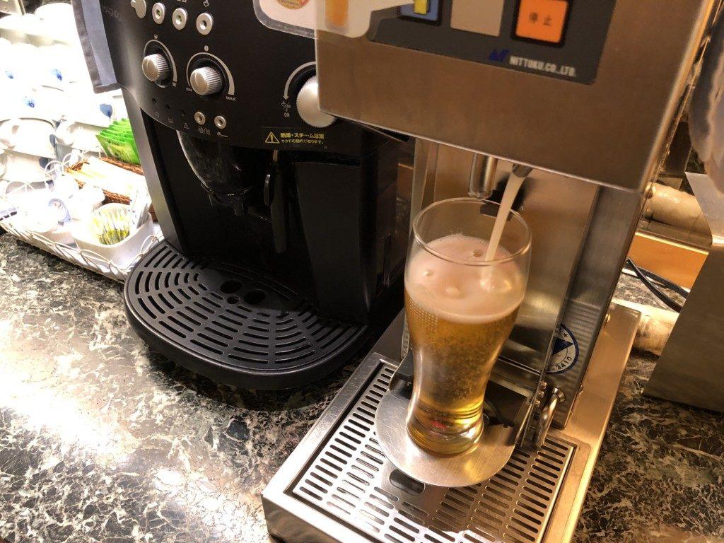 無料の生ビール