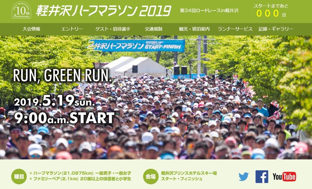 軽井沢ハーフマラソンホームページ