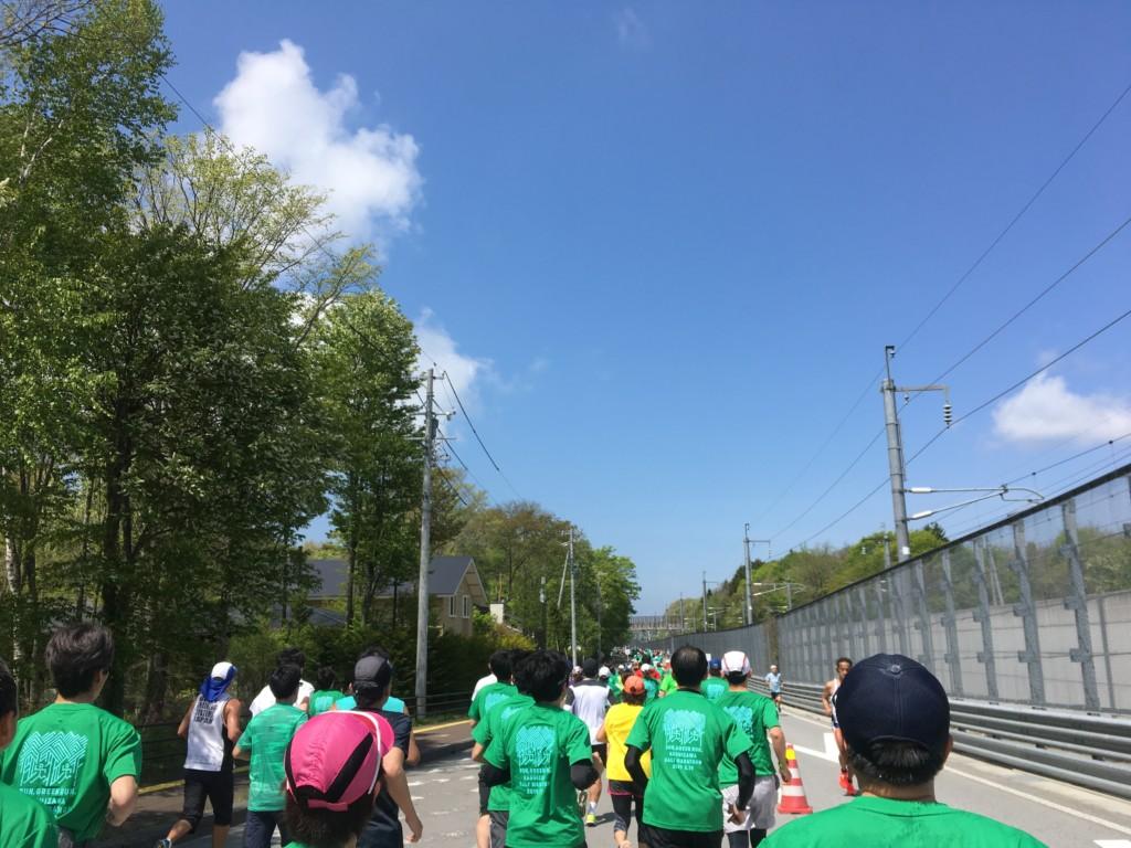 新幹線沿いのコース