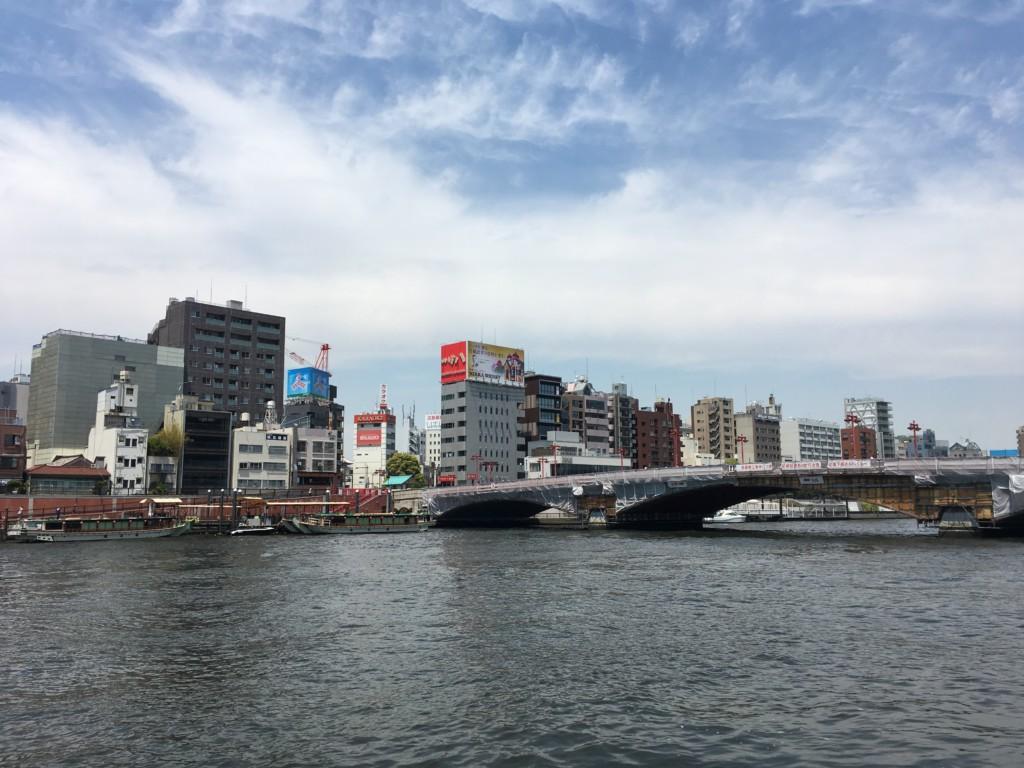 隅田川テラスから見た吾妻橋
