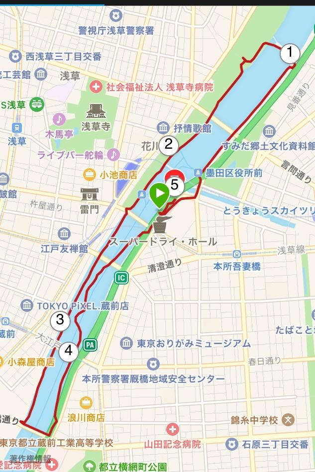隅田川テラスランニングコース