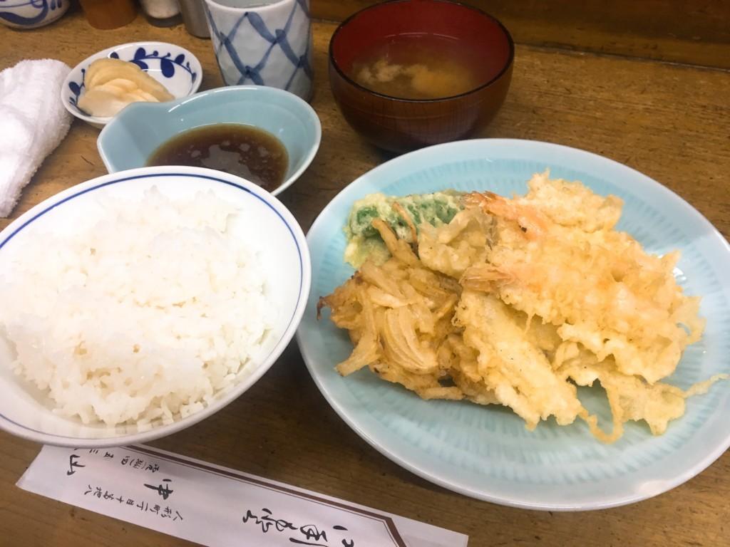 天ぷら中山天ぷら定食