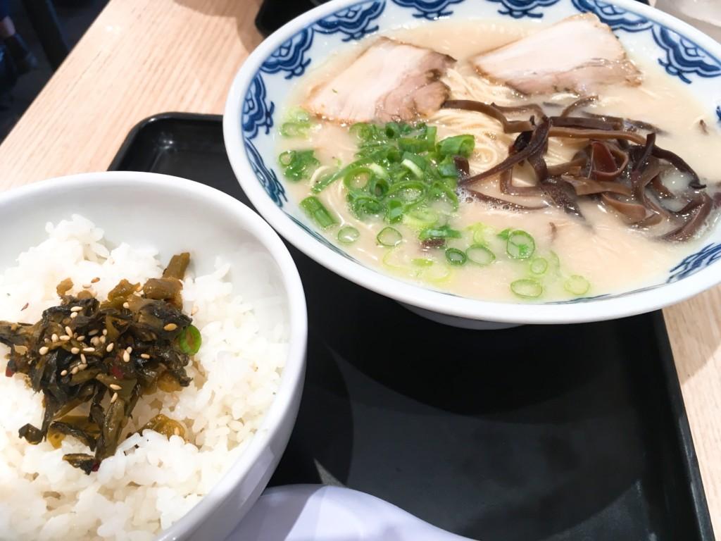 高菜ご飯とラーメン