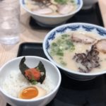 明太味玉ご飯とラーメン
