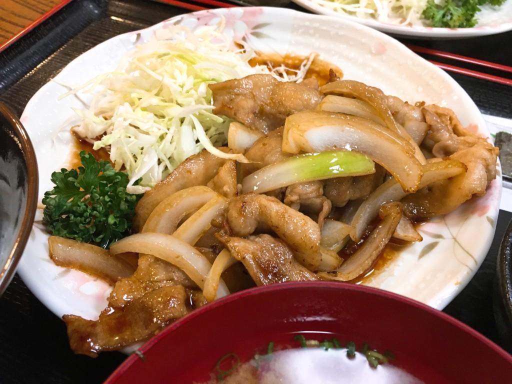 生姜焼き定食アップ
